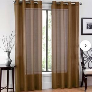 Brown / bronze Lightweight Grommet Curtain 36x84